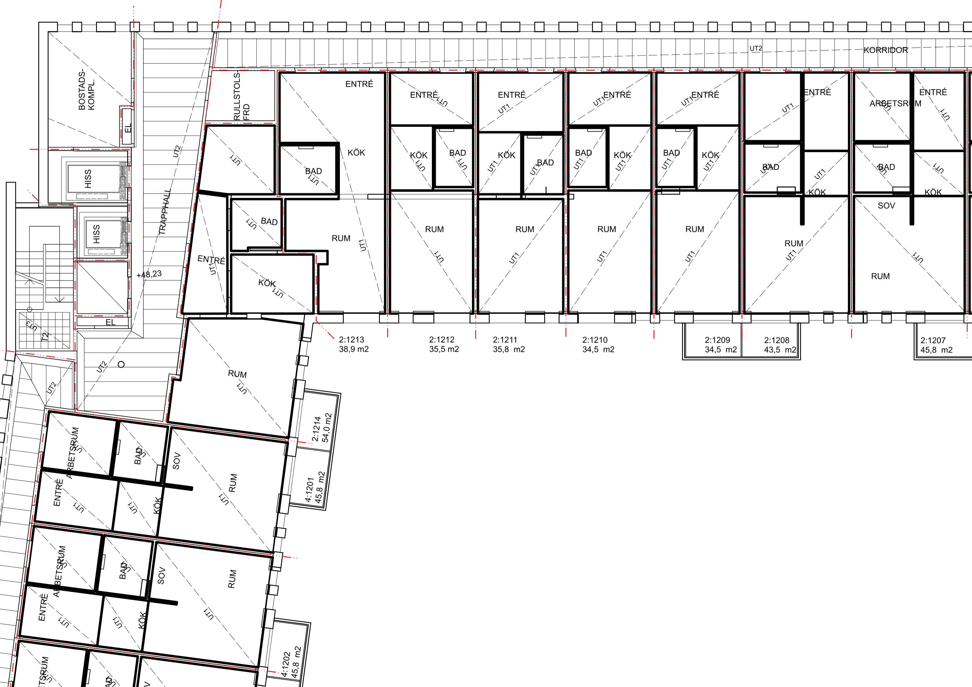 Пример исходных чертежей. План потолков